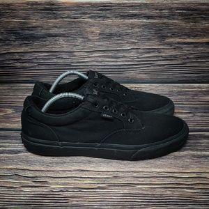 Vans Canvas Lace Up Skate Shoes Black Mens 10.5